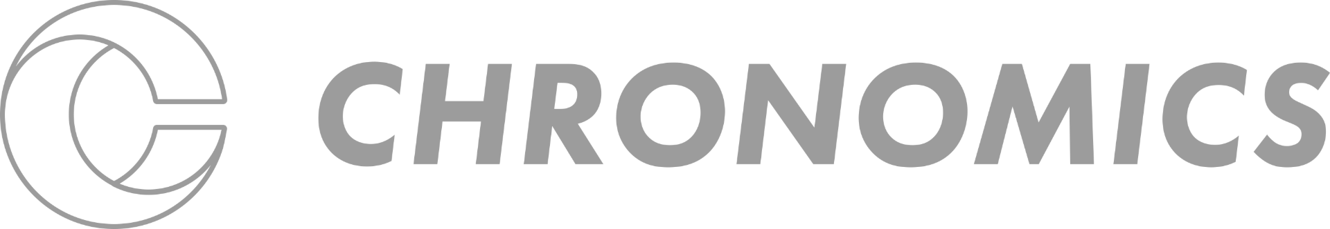 Chronomics Wordmark Blue